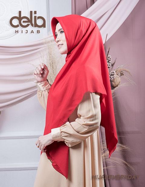 Jilbab Segi Empat Jumbo - Deskha Adiba - Delia Hijab