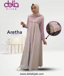 Baju Gamis Simple - Aretha Dress - Delia Hijab