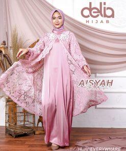 Baju Gamis Brokat - Aisyah Dress - Delia Hijab
