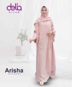 Baju Gamis Syari - Arisha Dress - Delia Hijab