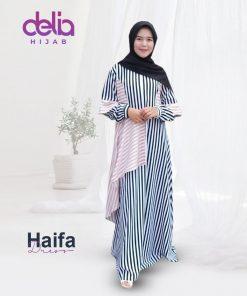 Baju Gamis Kekinian - Haifa Dress - Delia Hijab