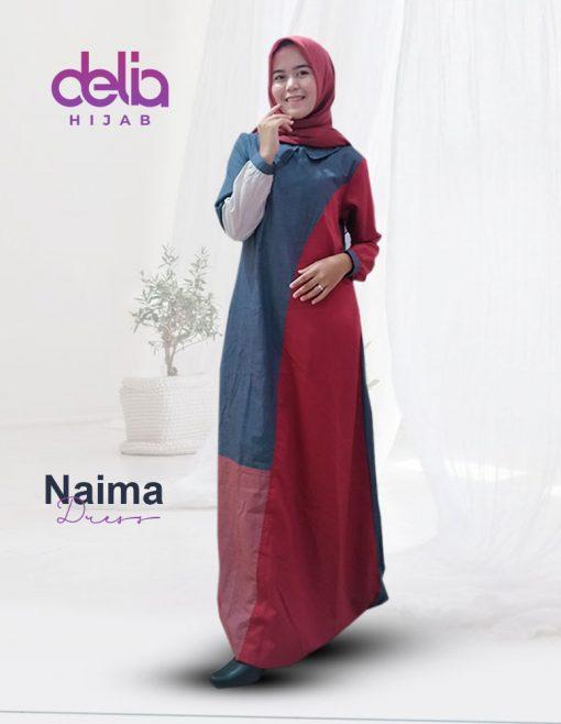 Baju Gamis Kekinian - Mana Dress - Delia Hijab