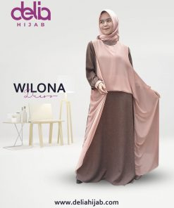 Baju Gamis Pesta - Wilona Dress - Delia Hijab