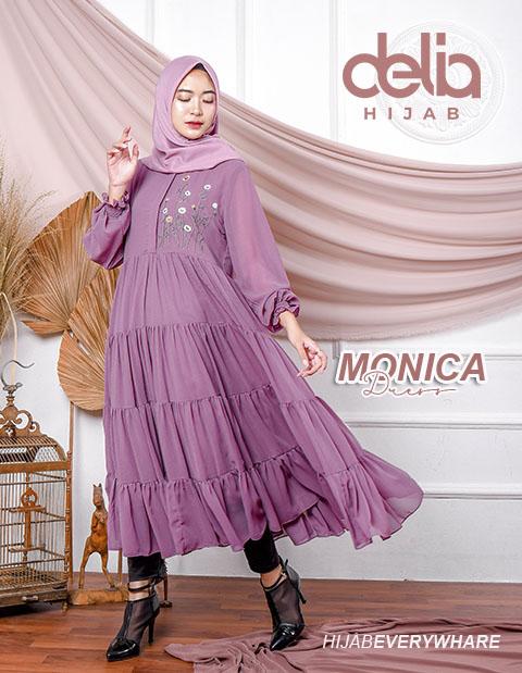 Baju Gamis Pesta - Monica Dress - Delia Hijab
