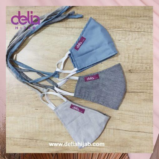 Masker Kain Polos - Masker Dewasa 01 - Delia Hijab