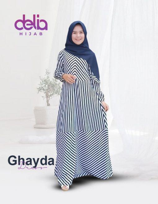 Baju Gamis Kekinian - Ghayda Dress - Delia Hijab