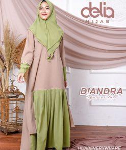 Baju Gamis Syari - Diandra Dress - Delia Hijab