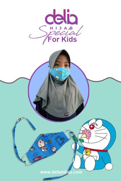 Masker Anak Karakter - Masker Anak 02 - Delia Hijab