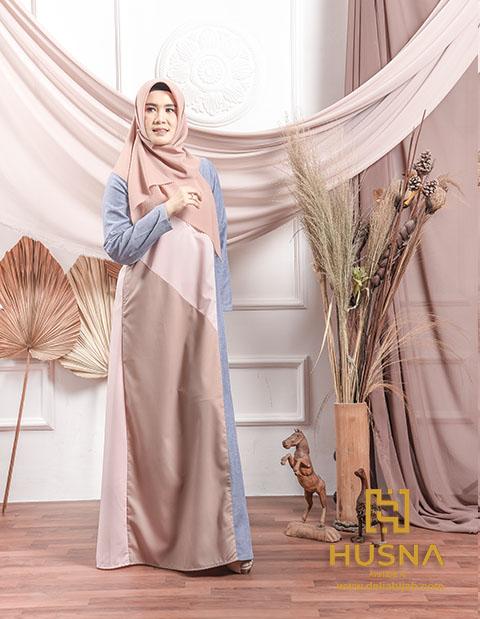 Baju Gamis Simple - Danish Dress - Delia Hijab
