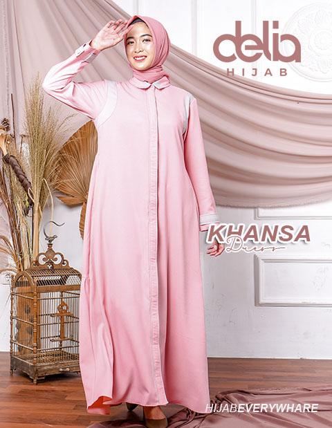 Baju Gamis Simple - Khansa Dress - Delia Hijab