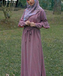 Baju Gamis Model Sekarang - Aileen Dress - Delia Hijab