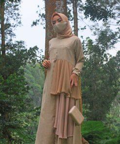 Baju Gamis Model Sekarang - Auristela Dress - Delia Hijab