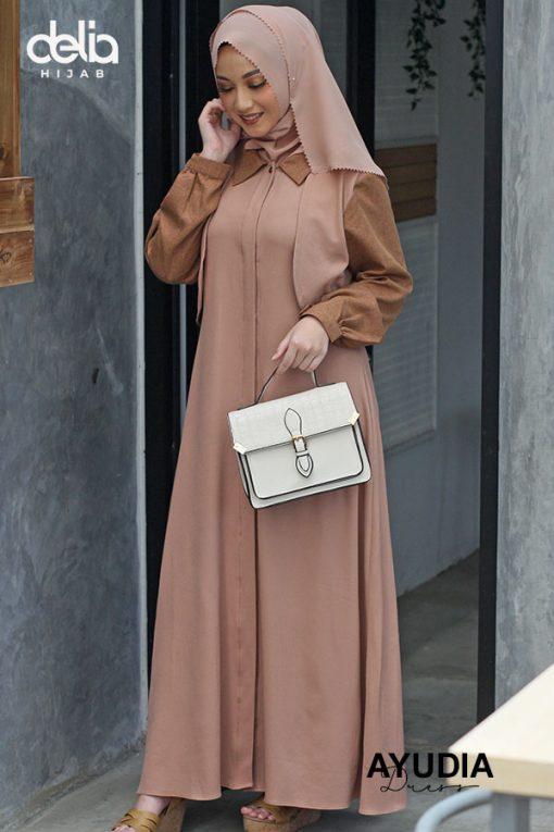 Baju Gamis Modern – Ayudia Dress – Delia Hijab