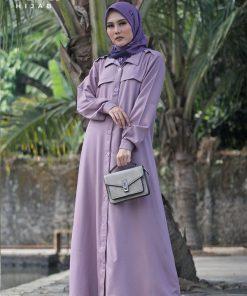 Baju Gamis Modern - Adena Dress - Delia Hijab Mauve